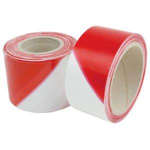 Bandă de marcare rosu si alb 100m