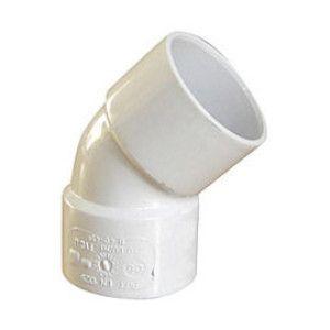 Cot alb PVC 45° MM NICOLL CF44B / CH44B