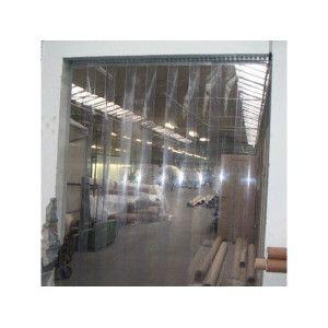 Perdea din benzi transparente (190x2) - Latime de trecere libera: 1060 la 1275 mm cu înălţime de 1900 extremitati T ° - 10 °C la +50 °C