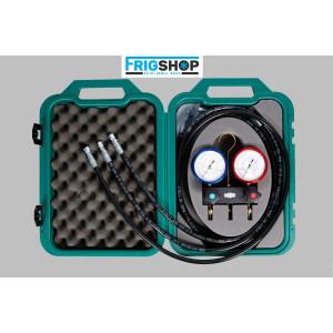 Baterii manometre cu 2 căi pentru CO2 REFCO M2-3-DELUXE-DS-R744-TC